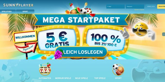 5€ No Deposit Bonus Sunnyplayer Startpaket